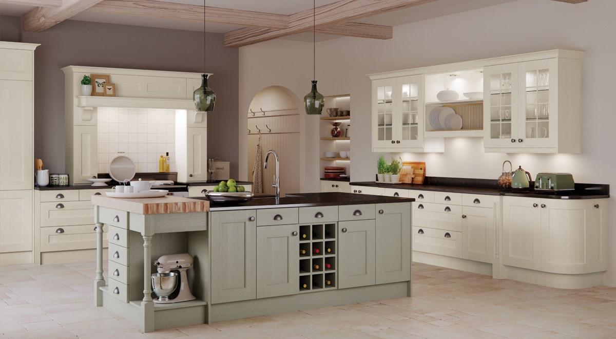 Top Of The Range Vintage Style Kitchen Island Unit
