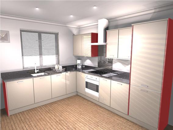 Red Kitchen Cabinet